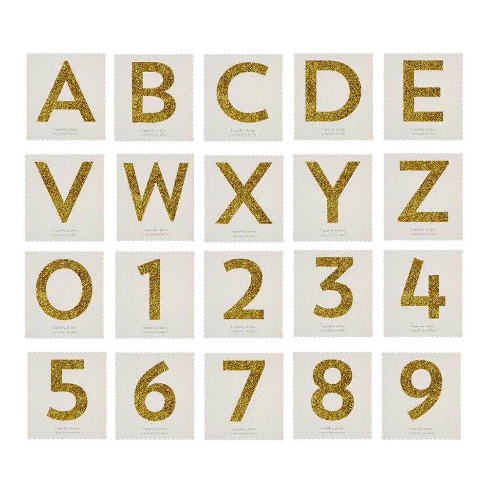 Meri Meri Alphabet Stickers Actividades creativas Gold Glitter by Meri Meri