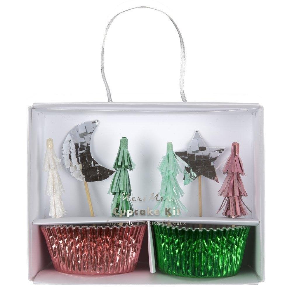 Umbrella Christmas Tree Uk.Festive Tree Cupcake Kit