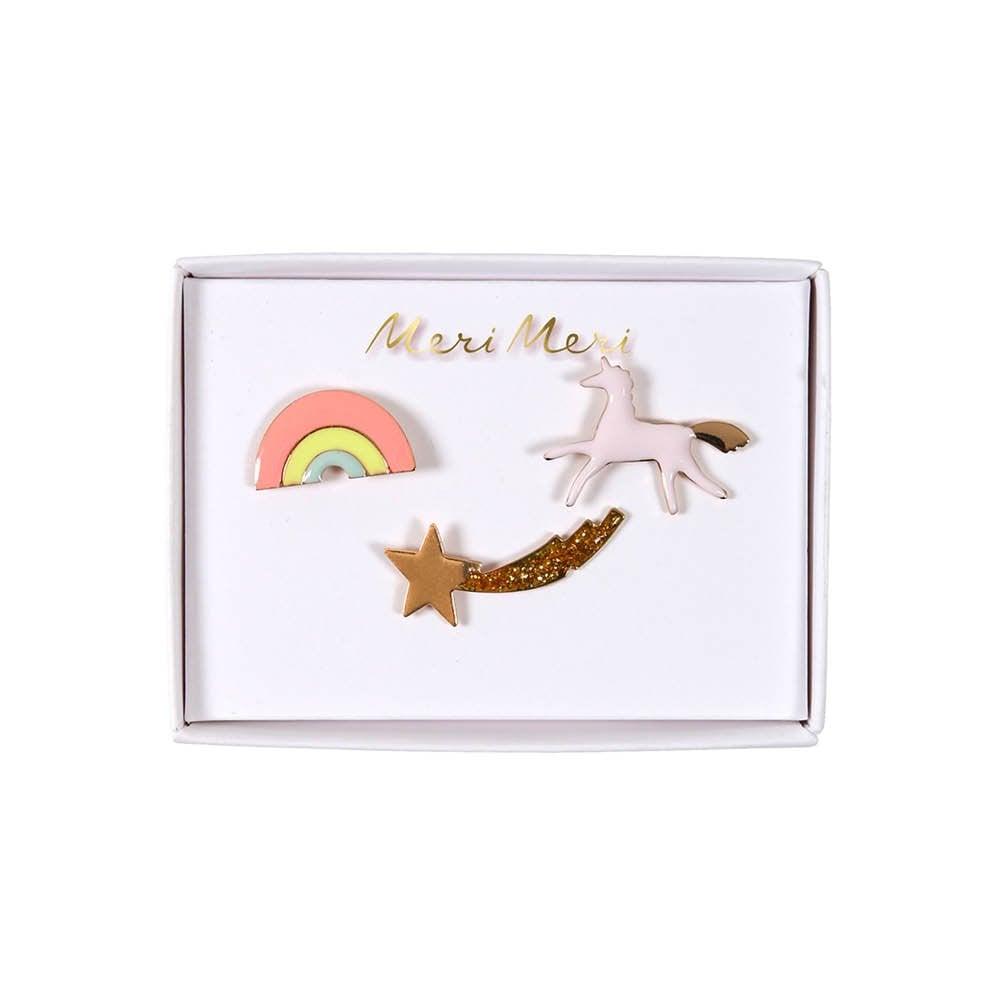 MERI MERI UNICORN & RAINBOW ENAMEL PINS